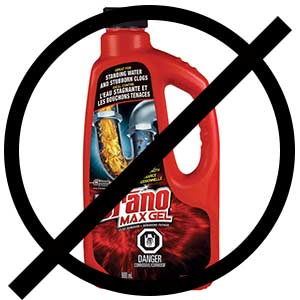 Say no to Drano!